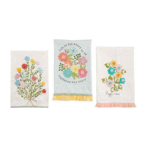 Floral Embroidered Towel