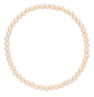 4mm Classic Gold Bead Bracelet
