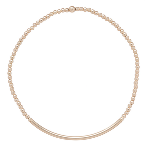 Bliss Bar 2mm Bracelet - Gold