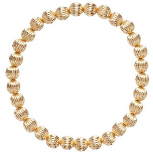 Dignity 6mm Bead Bracelet - Gold