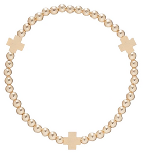 Signature Cross Matte Gold