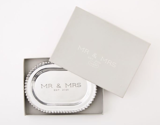 Mr. & Mrs. Metal Platter
