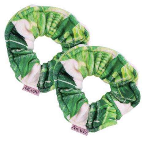 Palm Print Towel Scrunchies