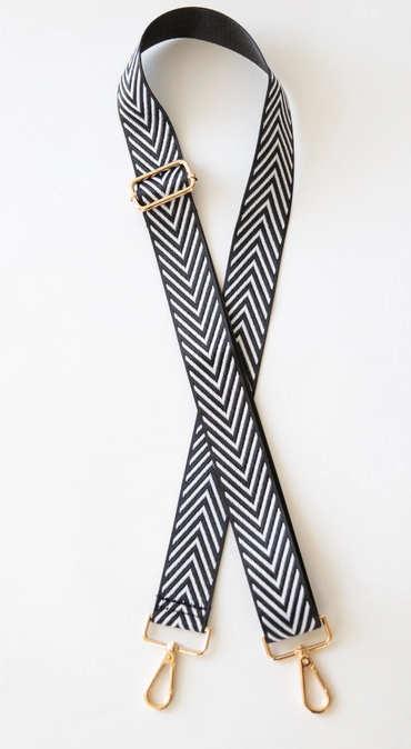 Black & White Chevron Purse Strap