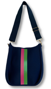 Navy Messenger with Strap