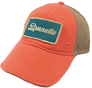 Metallic Coral Brunette Patch Hat