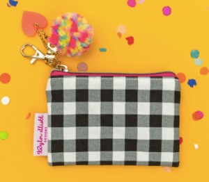 Mini Black Gingham Card Holder