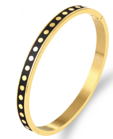 Black Dot to Dot Bangle
