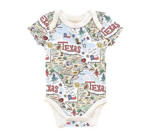 Texas Baby Map One-Piece