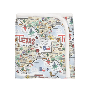 Texas Map Blanket
