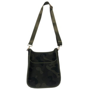 Neoprene Messenger Bag w/Strap - Army Camo