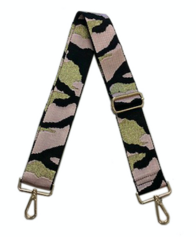"Camo Print Adjustable 2"" Bag Strap - Blush"