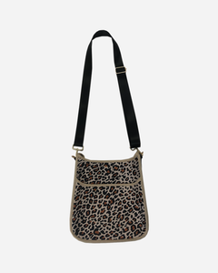 Neoprene Messenger Bag w/Strap - Leopard