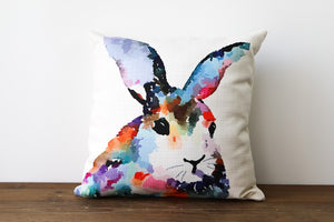 Colorful Rabbit Bunny Pillow