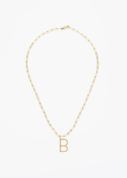 The Aspen Initial Square Link Necklace