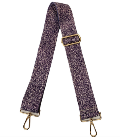 "2"" Adjustable Small Cheetah Print Strap - Purple"