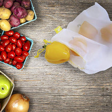 Load image into Gallery viewer, 5 PCs Reusable Mesh Produce Bags for Fruit, Vegetables. Washable Cotton - P & M Gear