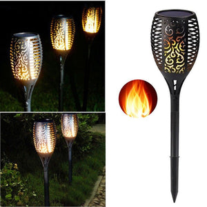 Solar Powered LED Flame Effect Tiki Torch Lawn Lights - P & M Gear