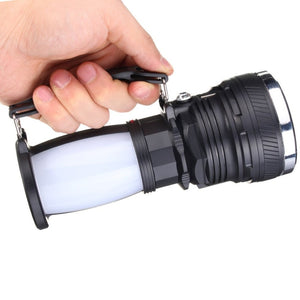 Solar Power&  USB Rechargeable LED Flashlight - Super Bright - P & M Gear