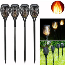 Load image into Gallery viewer, Solar Powered LED Flame Effect Tiki Torch Lawn Lights - P & M Gear