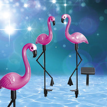 Load image into Gallery viewer, 3pcs LED Solar Power Flamingo Lawn Lamp. - P & M Gear