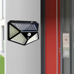 Solar Power Outdoor 100 LEDs Solar Lamp PIR Motion Sensor Wall Lamp - P & M Gear