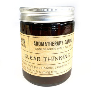Aromatherapy Soy Candle - Clear Thinking - P & M Gear