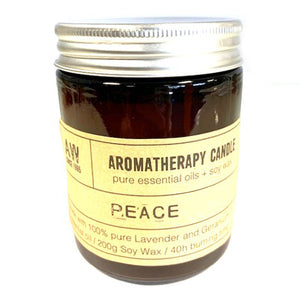 Aromatherapy Soy Candle - Peace - P & M Gear