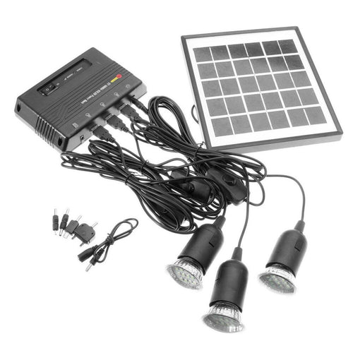 Solar Power Led Lamp System Kit 4W 5V USB Connection - P & M Gear