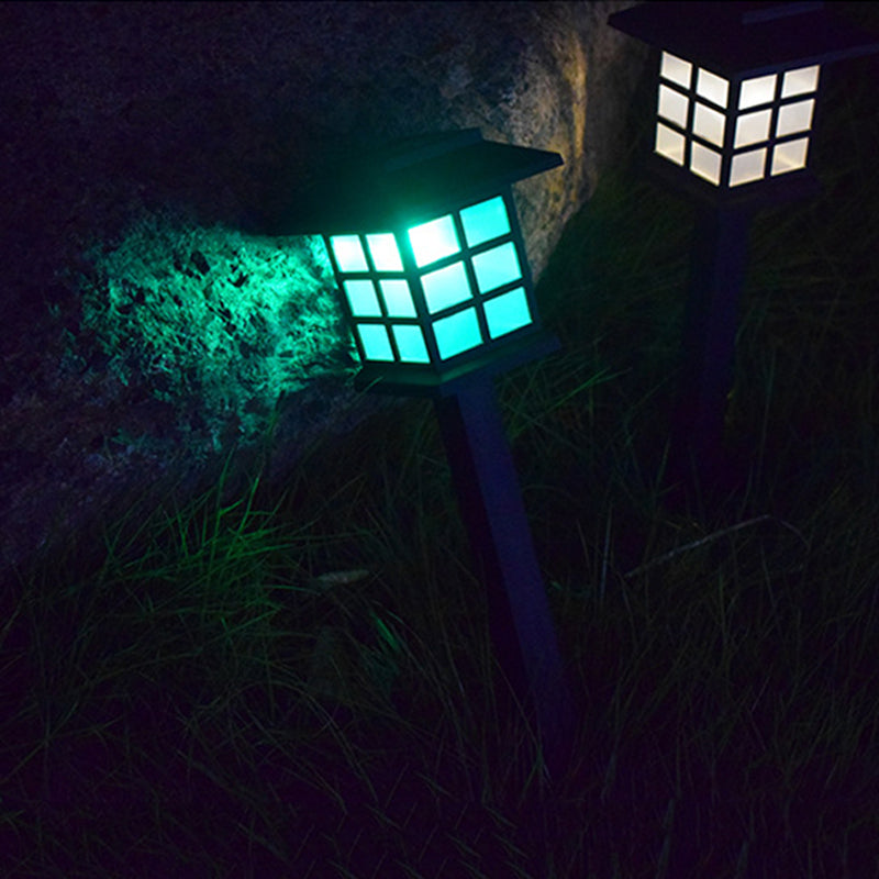 2 off  Classical Garden Lamps Solar Powered, - P & M Gear