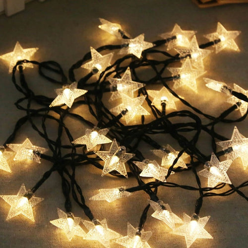 4.9M 30LED Stars Copper Wire String Lights, Solar Powered Light - P & M Gear