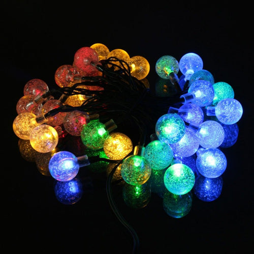 20 LED Solar Powered String Light - Bubble Ball - P & M Gear