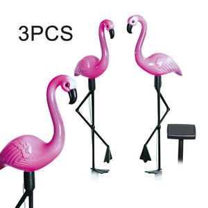3pcs LED Solar Power Flamingo Lawn Lamp. - P & M Gear