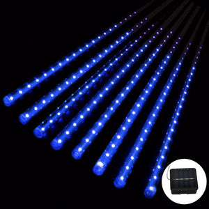 Solar Meteor Shower LED Tube Light 30cm 8 Tubes Waterproof Led Garden Light - P & M Gear