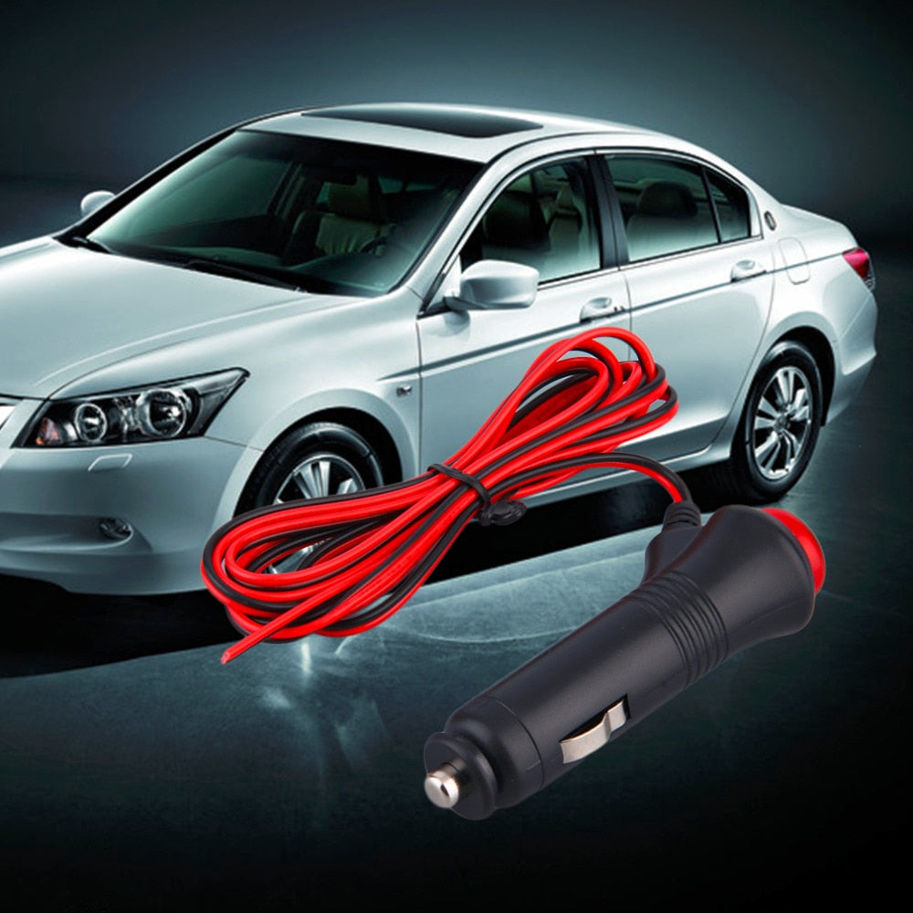 12V 24V Male Car Cigarette Lighter Plug Connector with On Off Switch 1.5m cable - P & M Gear