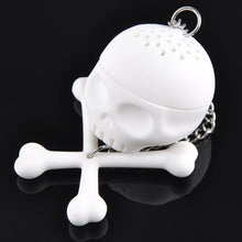 Load image into Gallery viewer, Skull n Crossbones Shaped Tea Infuser - Tea Bag Replacement - P & M Gear