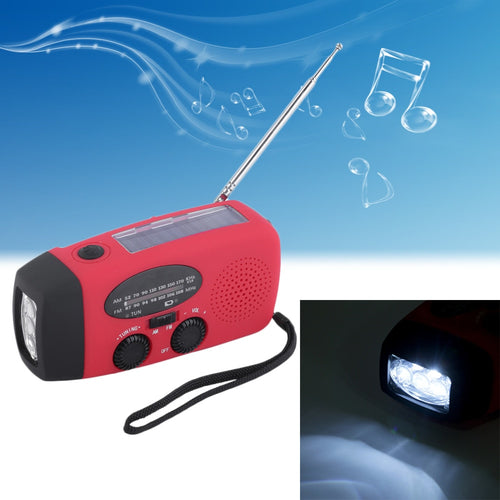 3 in 1 emergency hand crank generator with FM/AM Radio,Phones Charger LED Torch - P & M Gear