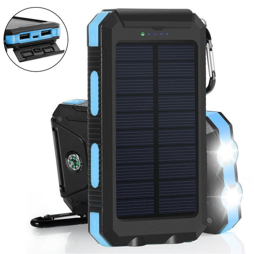 Waterproof Solar Power Bank 20000 mAh Dual USB - P & M Gear