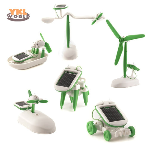6 in 1 Solar Power Robot Kit. DIY Assembly Toy - P & M Gear