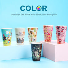 Load image into Gallery viewer, 480ml Creative Bamboo Fiber Coffee  Mugs, Reusable Drinking Cups With Lids - P & M Gear