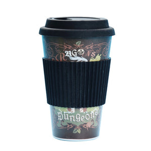 480ml Creative Bamboo Fiber Coffee  Mugs, Reusable Drinking Cups With Lids - P & M Gear