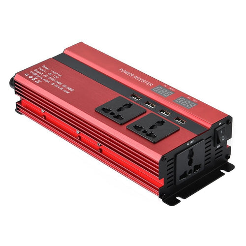1000W  Car/Van Inverter with LCD Display 12V-220V  with 4 USB Ports - P & M Gear