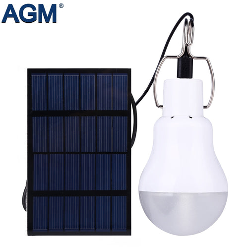 LED Solar Rechargeable Light Bulb, with solar panel - P & M Gear