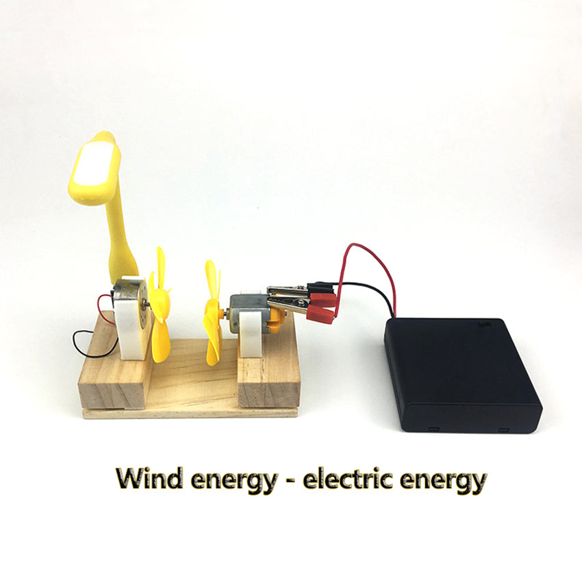 Electric Generator Motor Energy Wind Turbine Power Mini Kids LED Educational - P & M Gear