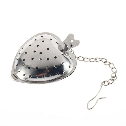 Stainless Steel Heart Tea Strainer / Ball Infuser - P & M Gear