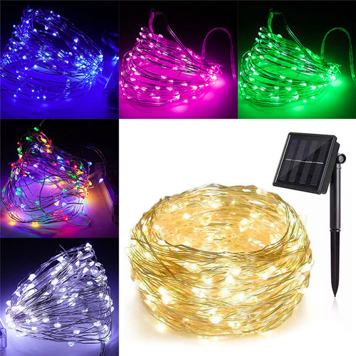 20M Solar LED Light Copper Wire String, Garden and Outdoors - P & M Gear