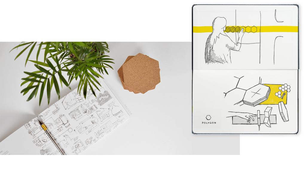 polygon touch design and innovation sketch book