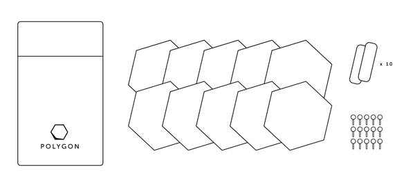 Polygon cork tiles line drawing whats included in the cork pack