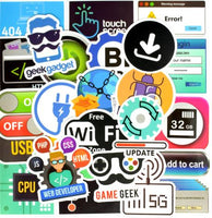 50 PCS de Adesivos Criativos Geek - para Notebook, Celular, Xbox e Playstation.