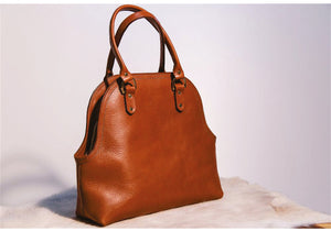 Noble Leather - Rounded tote Bag